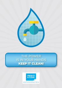 The Power Is In Your Hands. Keep It Clean!