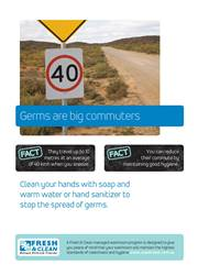 A4 Hygiene Poster: Germs are big commuters