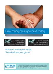 A4 Hygiene Poster: How many have you held today?