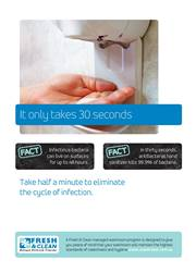 A4 Hygiene Poster: It only takes 30 seconds