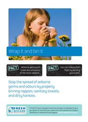 A3 Hygiene Poster: Wrap it and bin it