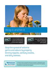 A4 Hygiene Poster: Wrap it and bin it
