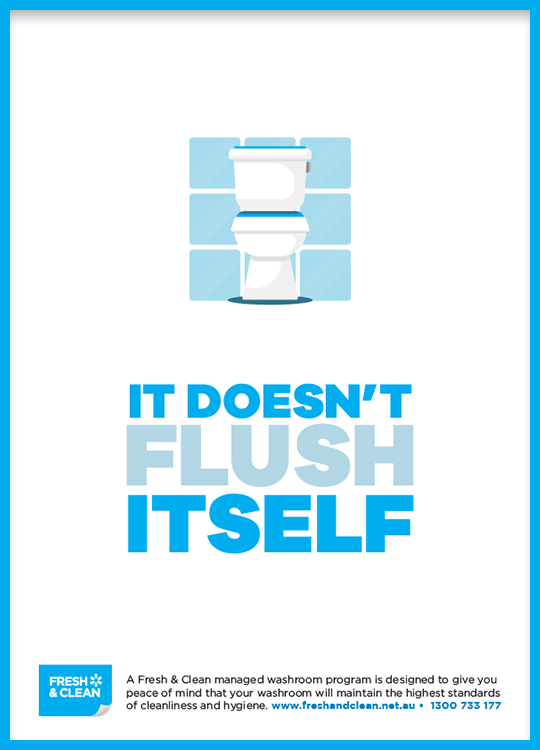 Toilet Etiquette Cubicle Posters - Fresh & Clean