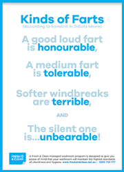 Kinds of farts poster