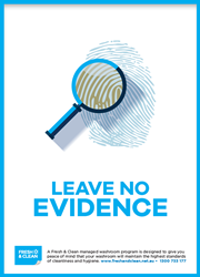 Leave no evidence poster