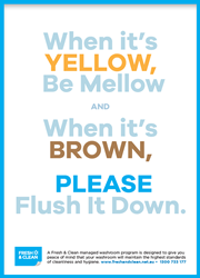 Flush it down poster